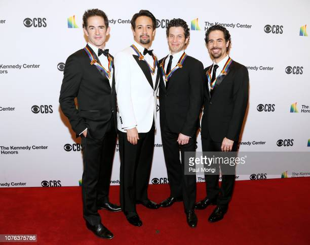 Hamilton cocreators and honorees Andy Blankenbuehler LinManuel Miranda Thomas Kail and Alex Lacamoire arrive at the 2018 Kennedy Center Honors at The...
