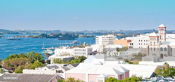 hamilton from the fort - bermuda stock pictures, royalty-free photos & images