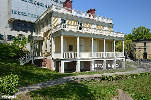 hamilton grange in st. nicholas park in new york - alexander hamilton stock photos and pictures