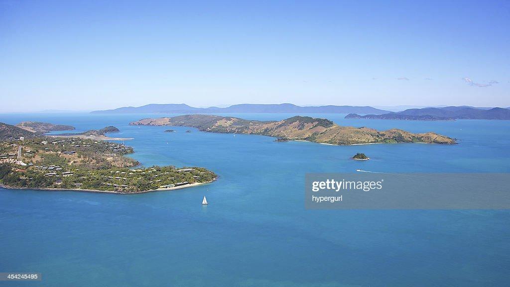 Hamilton Island Aerial Landscape : Stock Photo