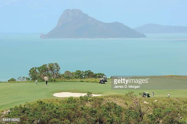 Hamilton Island golf course on April 01, 2010 in Hamilton Island, Whitsundays, Queensland. The golf course is on an island next to the main island...