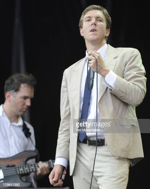 Hamilton Leithauser of The Walkmen performs as part of the Austin City Limits Music Festival Day Three at Zilker Park on September 18 2011 in Austin...
