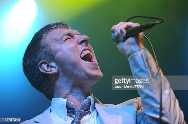 Hamilton Leithauser of The Walkmen performs on stage during Bonnaroo 2011 at That Tent on June 9 2011 in Manchester Tennessee
