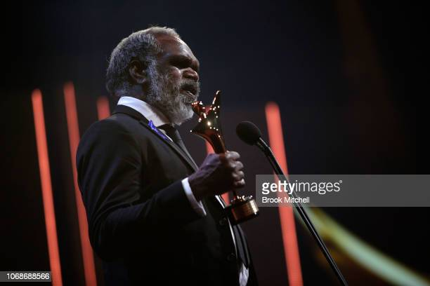 Hamilton Morris accepts the AACTA Award for Best Lead Actor during the 2018 AACTA Awards Presented by Foxtel at The Star on December 5 2018 in Sydney...