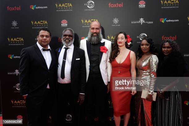 Hamilton Morris and Natassia Gorey Furber attend the 2018 AACTA Awards Presented by Foxtel at The Star on December 5 2018 in Sydney Australia
