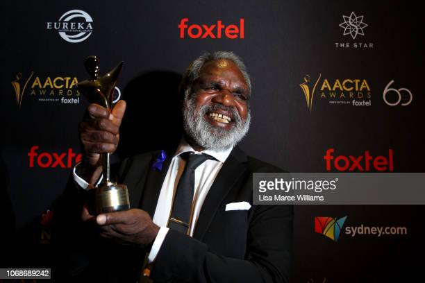 Hamilton Morris poses in the media room with an AACTA Award for Best Lead Actor during the 2018 AACTA Awards Presented by Foxtel at The Star on...