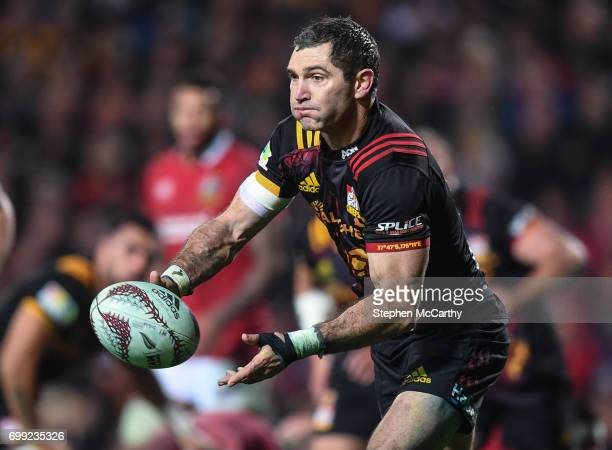 Hamilton New Zealand 20 June 2017 Stephen Donald of the Chiefs during the match between the Chiefs and the British Irish Lions at FMG Stadium in...