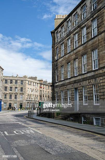 Hamilton Place in the Stockbridge area of Edinburgh part of the New Town a UNESCO World Heritage Site