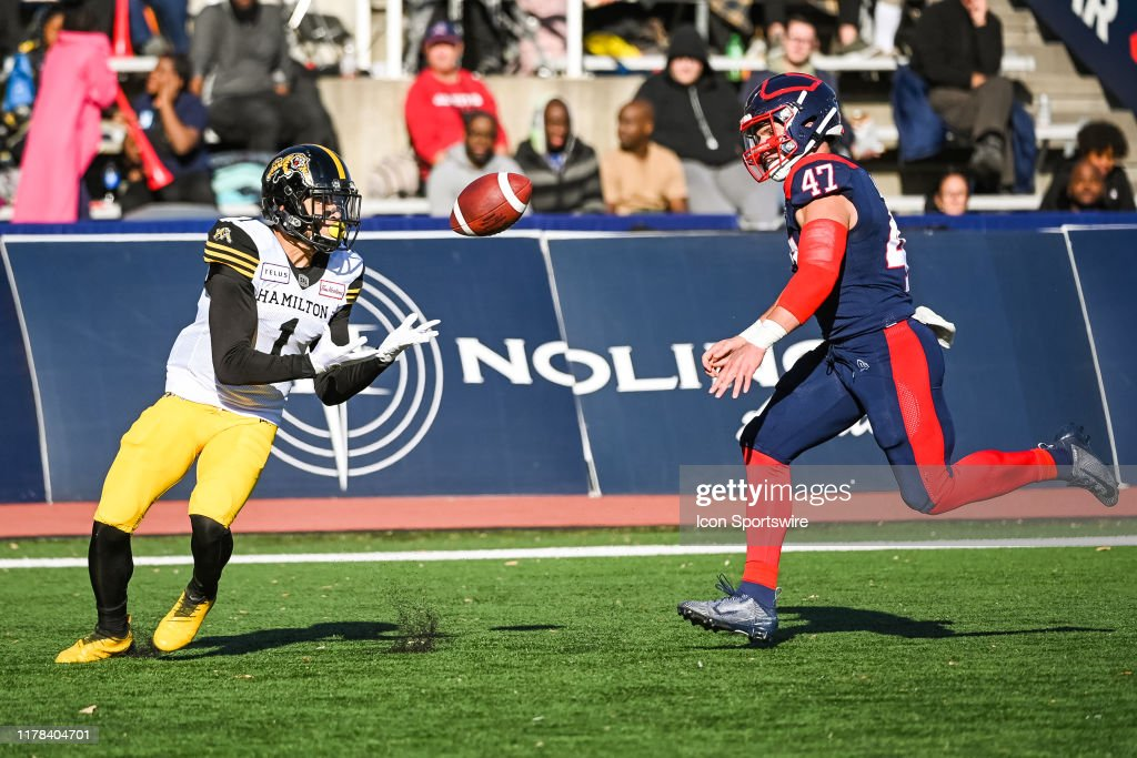 CFL: OCT 26 Hamilton Tiger-Cats at Montreal Alouettes : News Photo