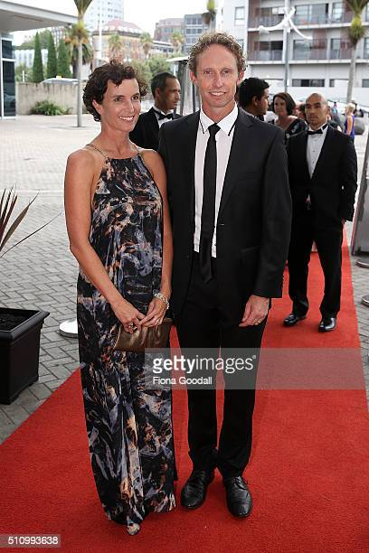 Hamish and Marissa Carter arrive at the 2016 Halberg Awards at Vector Arena on February 18 2016 in Auckland New Zealand