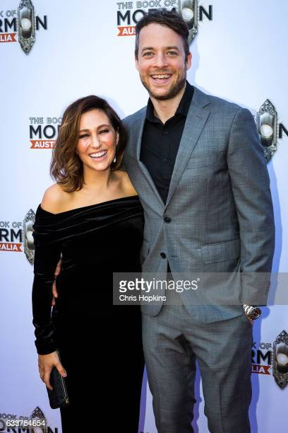 Hamish and Zoe Blake arrive ahead of The Book of Mormon opening night at Princess Theatre on February 4 2017 in Melbourne Australia