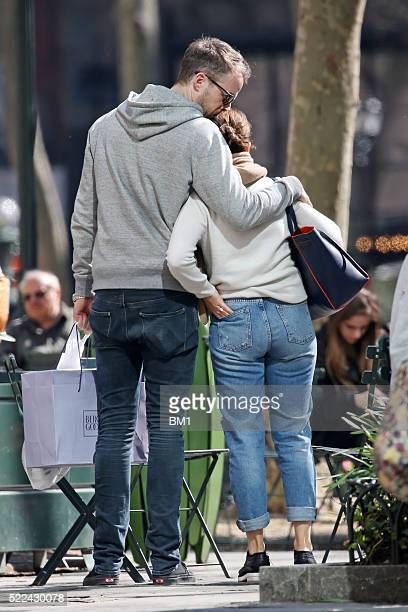 Hamish and Zoe Blake enjoy playing tourists in New York City on April 14 2016 in New York City USA