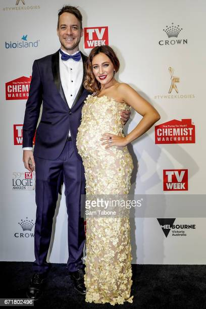Hamish and Zoe FosterBlake arrives at the 59th Annual Logie Awards at Crown Palladium on April 23 2017 in Melbourne Australia