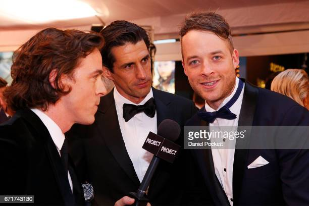Hamish Blake and Andy Lee arrive at the 59th Annual Logie Awards at Crown Palladium on April 23 2017 in Melbourne Australia