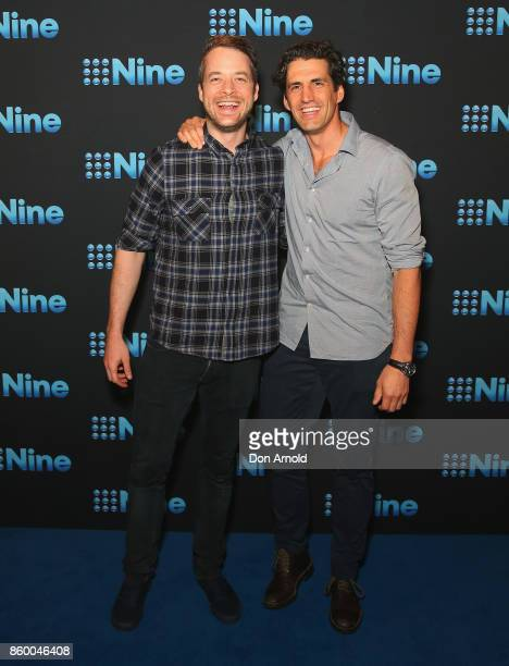 Hamish Blake and Andy Lee pose during the Channel Nine Upfronts 2018 event on October 11 2017 in Sydney Australia