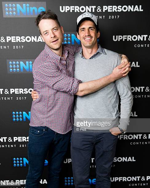 Hamish Blake and Andy Lee poses during the Channel Nine Up fronts at The Star on November 8 2016 in Sydney Australia