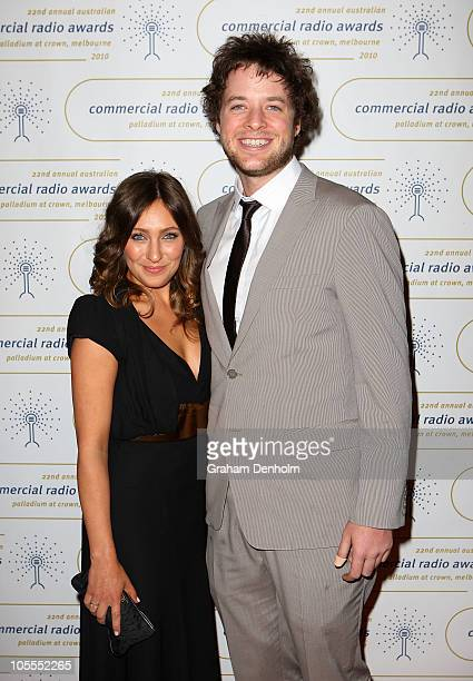 Hamish Blake and Zoe Foster arrive at the 2010 Australian Commercial Radio Awards at the Crown Palladium on October 16 2010 in Melbourne Australia