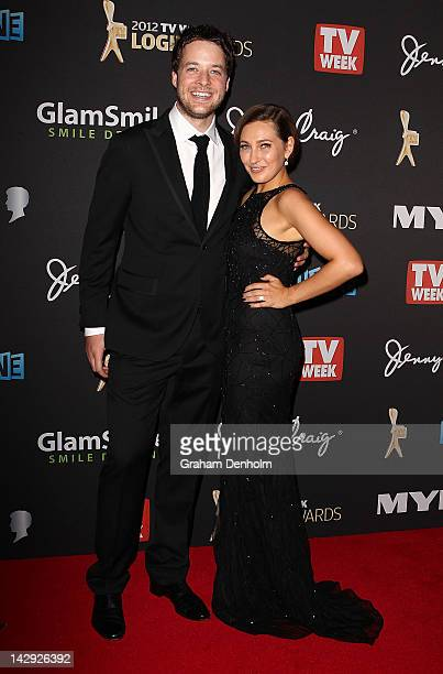 Hamish Blake and Zoe Foster arrive at the 2012 Logie Awards at the Crown Palladium on April 15 2012 in Melbourne Australia