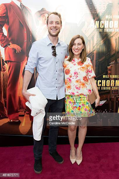 Hamish Blake and Zoe Foster arrive at the 'Anchorman 2 The Legend Continues' Australian premiere on November 24 2013 in Sydney Australia