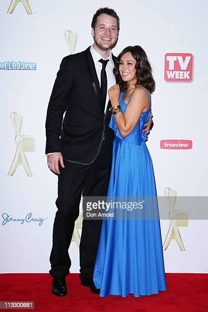 Hamish Blake and Zoe Foster arrives on the red carpet ahead of the 2011 Logie Awards at Crown Palladium on May 1 2011 in Melbourne Australia