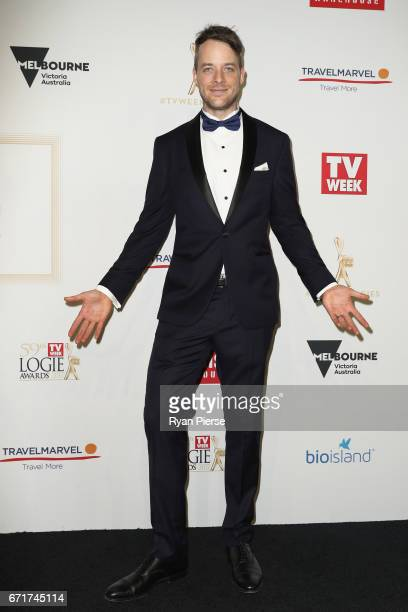 Hamish Blake arrives at the 59th Annual Logie Awards at Crown Palladium on April 23 2017 in Melbourne Australia
