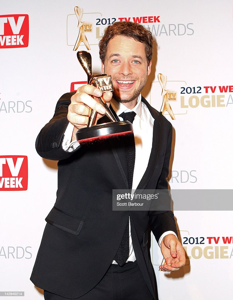 Hamish Blake poses after winning the Gold Logie at the 2012 Logie Awards at the Crown Palladium on April 15, 2012 in Melbourne, Australia.