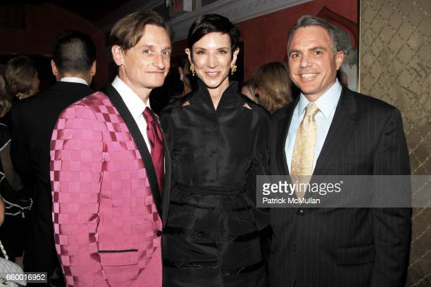 Hamish Bowles Amy Fine Collins and Lew Leone attend Lighthouse International POSH Preview Benefit Dinner at Doubles Club on May 12 2009 in New York...