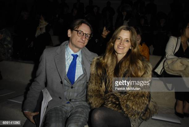 Hamish Bowles and Amanda Brooke attend at on February 17 2009