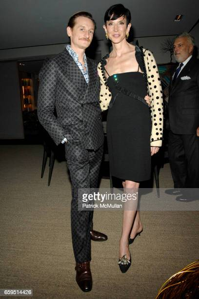 Hamish Bowles and Amy Fine Collins attend Santiago Barberi Gonzalez hosts intimate dinner for Pamela Golbin to celebrate the launch of her book on...