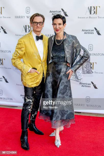 Hamish Bowles and Amy Fine Collins attend the 2018 American Ballet Theatre Spring Gala at The Metropolitan Opera House on May 21 2018 in New York City