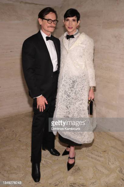 Hamish Bowles and Amy Fine Collins attend the American Ballet Theatre's Fall Gala at David H. Koch Theater at Lincoln Center on October 26, 2021 in...