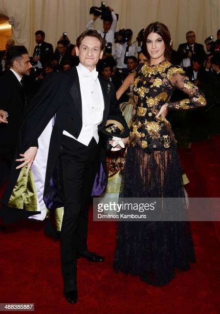 Hamish Bowles and Bianca Brandolini attends the Charles James Beyond Fashion Costume Institute Gala at the Metropolitan Museum of Art on May 5 2014...