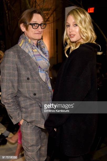 Hamish Bowles and Princess MariaOlympia of Greece and Denmark attend the Oscar De La Renta fashion show during New York Fashion Week The Shows at The...