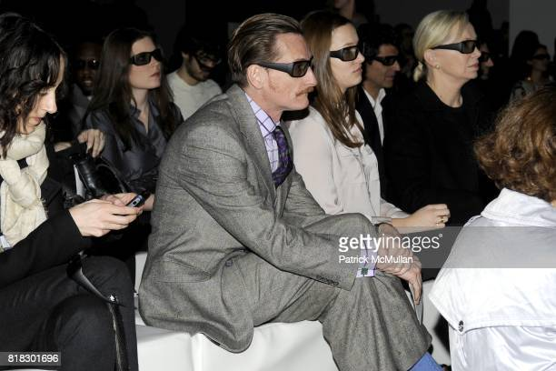 Hamish Bowles attends BURBERRY Live 3D streaming of AW10 Womenswear show at Skylight Studio on February 23 2010 in New York City