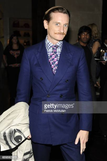 Hamish Bowles attends Gwyneth Paltrow and VBH's Bruce Hoeksema Host Cocktail Party for Valentino The Last Emperor at VBH on October 27 2009 in New...