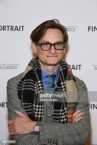 """Hamish Bowles attends the """"Final Portrait"""" New York Screening at Guggenheim Museum on March 22, 2018 in New York City."""
