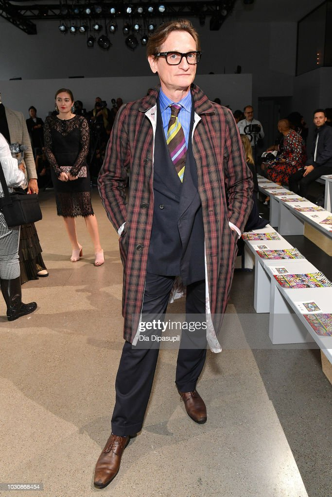 Hamish Bowles attends the Libertine front row during New York Fashion Week: The Shows at Gallery II at Spring Studios on September 10, 2018 in New York City.