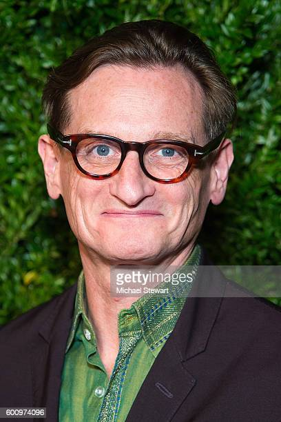 Hamish Bowles attends the Saks Downtown x Vogue event at Saks Downtown on September 8 2016 in New York City