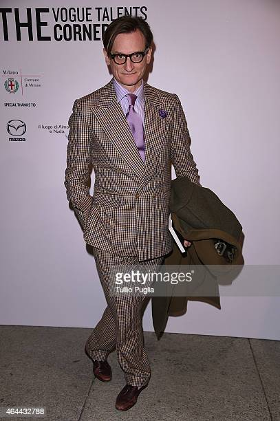 Hamish Bowles attends the Vogue Talent's Cornercom on February 25 2015 in Milan Italy