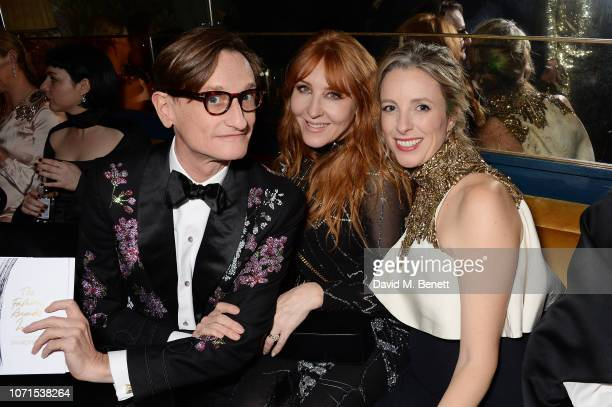 Hamish Bowles Charlotte Tilbury and Stephanie Phair attend a party hosted by Katie Grand and Jefferson Hack in honour of Miuccia Prada winner of the...