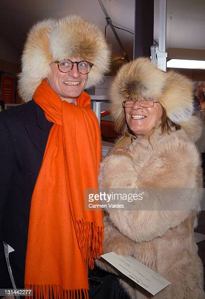 Hamish Bowles during Mercedes Benz Fashion Week Fall 2003 Collections Matthew Williamson Front Row at Bryant Park in New York City New York United...