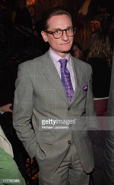 Hamish Bowles European Vogue Editor at large during Abercrombie Fitch Store Opening on 5th Avenue in New York City at A F 5th Avenue in New York City...
