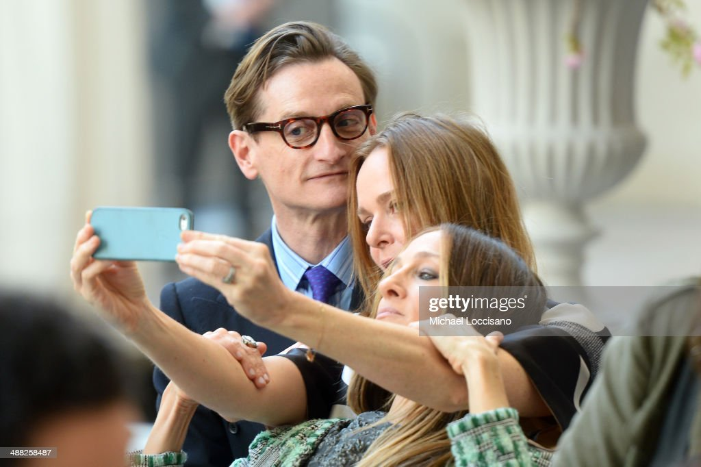 Hamish Bowles, Stella McCartney and Sarah Jessica Parker attend the Anna Wintour Costume Center Grand Opening at the Metropolitan Museum of Art on May 5, 2014 in New York City.