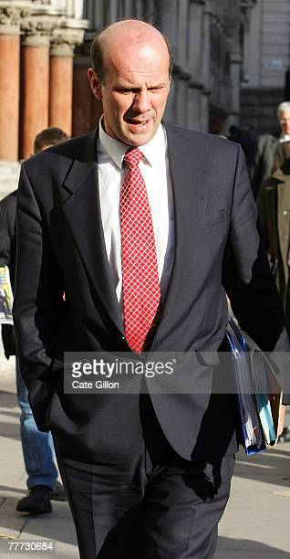 Hamish Campbell enters the High Court on the second day of Barry George's appeal against his conviction on November 6 2007 in London England Barry...