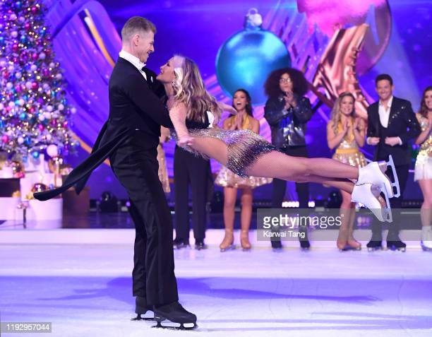 Hamish Gaman and Caprice Bourret during the Dancing On Ice 2019 photocall at the Dancing On Ice Studio ITV Studios Old Bovingdon Airfield on December...