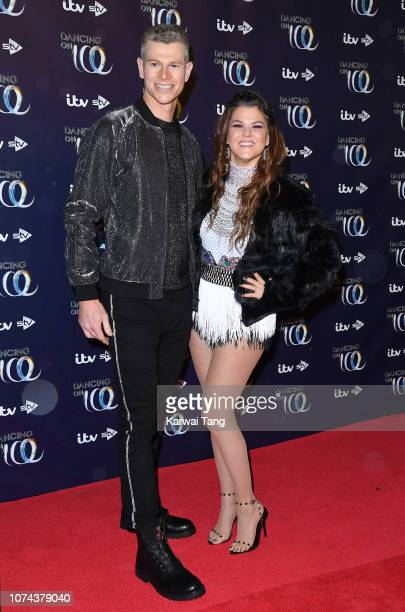 Hamish Gaman and Saara Aalto attend a photocall for the new series of Dancing On Ice at Natural History Museum Ice Rink on December 18 2018 in London...