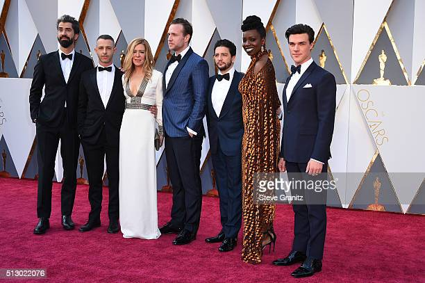 Hamish Linklater Dede Gardner Jeremy Kleiner John Magaro Effie Brown and Finn Wittrock attend the 88th Annual Academy Awards at Hollywood Highland...