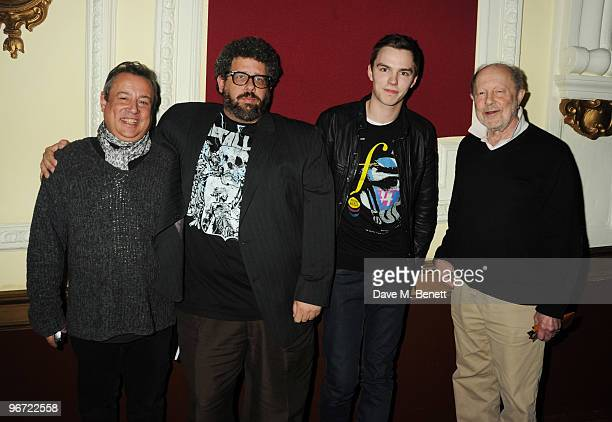Hamish McAlpine, Neil LaBute, Nicholas Hoult and Nicolas Roeg attend the launch of 'Heavy Rain' for PlayStation 3 at The Electric Cinema on February...
