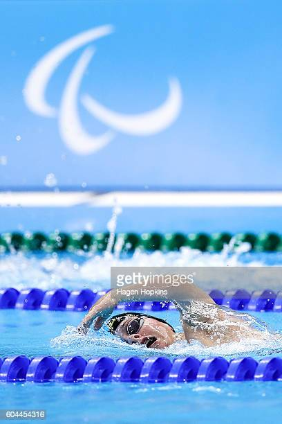 Hamish McLean of New Zealand competes in the Men's Men's 400m Freestyle S6 final on day 6 of the Rio 2016 Paralympic Games at Olympic Aquatics...