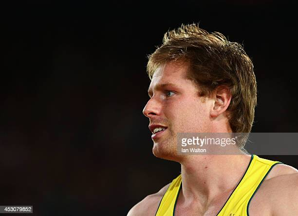 Hamish Peacock of Australia competes in the Men's Javelin final at Hampden Park during day ten of the Glasgow 2014 Commonwealth Games on August 2...